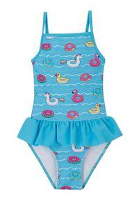 Fioletowy strój kąpielowy bonprix z nadrukiem
