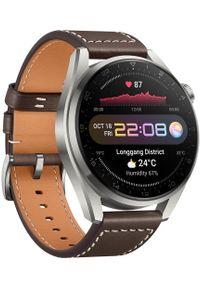 HUAWEI - Huawei smartwatch WATCH 3 PRO. Rodzaj zegarka: smartwatch. Kolor: brązowy. Styl: sportowy
