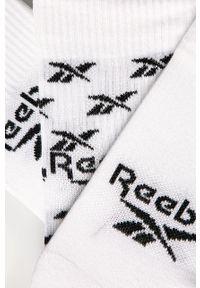 Białe skarpetki Reebok Classic z nadrukiem