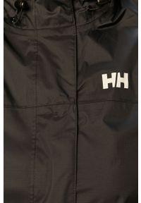 Czarna kurtka Helly Hansen z nadrukiem, na co dzień, z kapturem