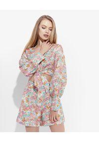 JENESEQUA - Lniana bluzka Marrakesh. Kolor: biały. Materiał: len. Długość rękawa: długi rękaw. Długość: długie. Wzór: nadruk