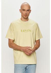 Levi's® - Levi's - T-shirt. Okazja: na co dzień, na spotkanie biznesowe. Kolor: zielony. Wzór: nadruk. Styl: biznesowy, casual