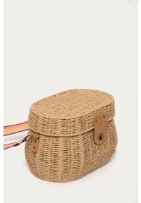 Brązowa torba plażowa Roxy gładkie, na ramię