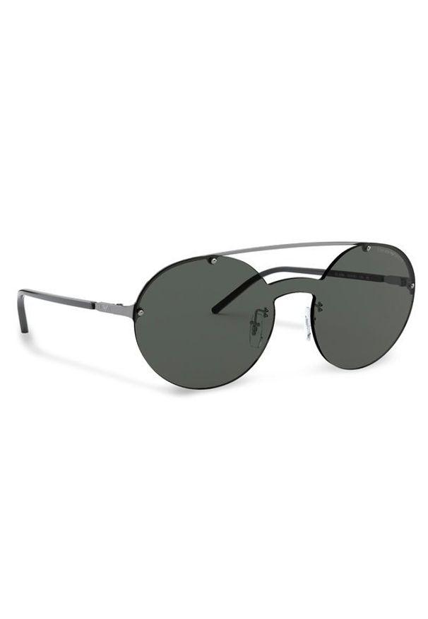 Szare okulary przeciwsłoneczne Emporio Armani