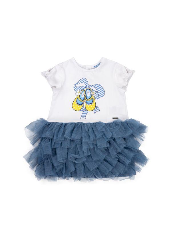 Niebieska sukienka Mayoral casualowa, prosta, na co dzień