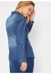 Koszula dżinsowa bonprix niebieski. Kolor: niebieski