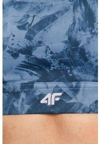 4f - 4F - Biustonosz sportowy. Kolor: niebieski. Rodzaj stanika: odpinane ramiączka