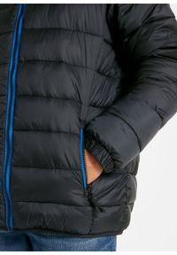Czarna kurtka bonprix sportowa, z nadrukiem