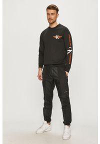 Czarna bluza nierozpinana Calvin Klein Jeans z nadrukiem, na co dzień, casualowa