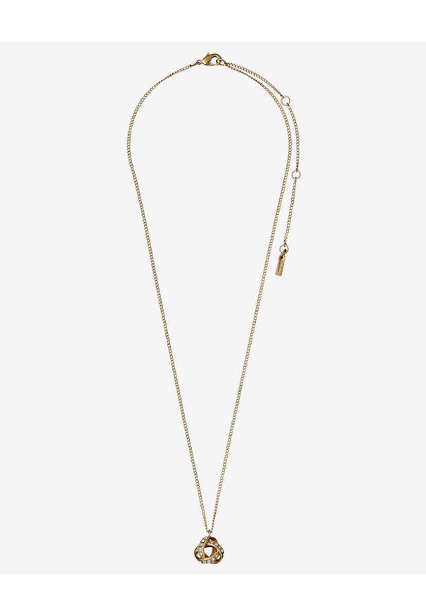 Złoty naszyjnik Pilgrim z kryształem, w kolorowe wzory, z mosiądzu