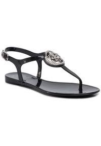 Czarne sandały Guess na co dzień, casualowe