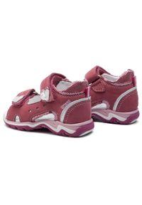Różowe sandały Sergio Bardi Kids z aplikacjami, na lato