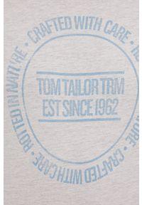 Tom Tailor - T-shirt. Okazja: na co dzień. Kolor: beżowy. Materiał: bawełna, dzianina. Wzór: nadruk. Styl: casual