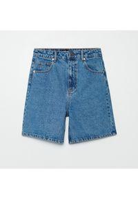 Cropp - Jeansowe bermudy - Niebieski. Kolor: niebieski. Materiał: jeans
