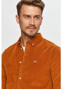 Pomarańczowa koszula Tommy Jeans na co dzień, casualowa
