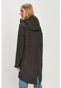 Czarna kurtka 4f casualowa, z kapturem, gładkie, na co dzień