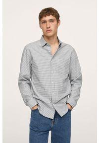 Mango Man - Koszula bawełniana Vichy. Typ kołnierza: kołnierzyk klasyczny. Kolor: szary. Materiał: bawełna. Długość rękawa: długi rękaw. Długość: długie. Styl: klasyczny