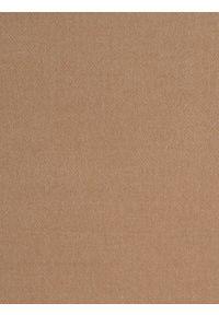 TOP SECRET - Szalik męski. Kolor: beżowy. Materiał: tkanina, akryl. Wzór: gładki, aplikacja. Sezon: zima. Styl: elegancki