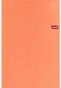 Levi's® - Levi's - T-shirt. Okazja: na co dzień, na spotkanie biznesowe. Kolor: pomarańczowy. Materiał: dzianina. Wzór: aplikacja. Styl: biznesowy, casual