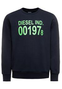 Diesel Bluza S-Girk-J3 00SDPY 0IAJH Granatowy Regular Fit. Kolor: niebieski