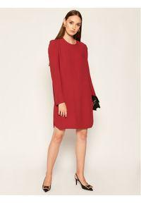 Czerwona sukienka koktajlowa Sportmax Code wizytowa