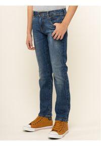 Guess Jeansy L01A12 D3YH0 Granatowy Slim Fit. Kolor: niebieski. Materiał: jeans