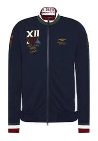Aeronautica Militare Bluza 211FE1588F419 Granatowy Regular Fit. Kolor: niebieski
