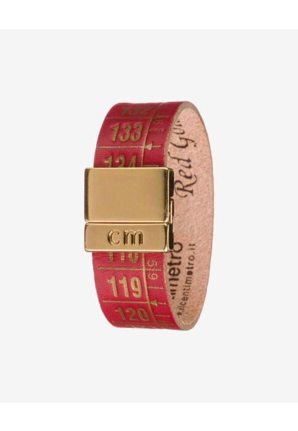 Czerwona bransoletka Il Centimetro pozłacana, w kolorowe wzory