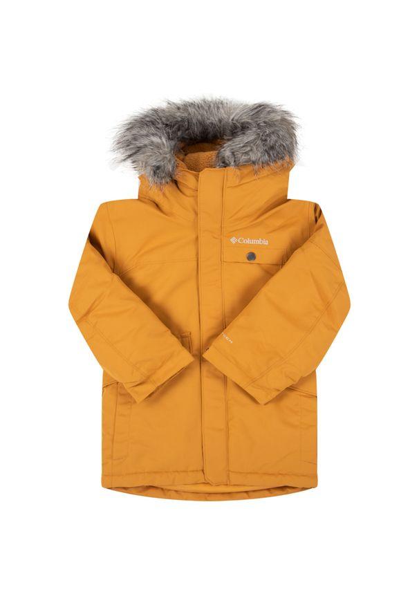 Brązowa kurtka zimowa columbia