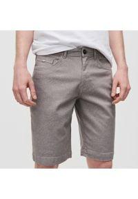 Reserved - Bawełniane szorty - Beżowy. Kolor: beżowy. Materiał: bawełna