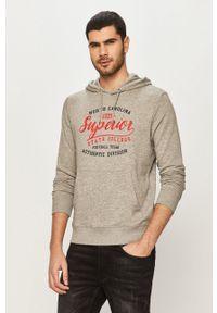 PRODUKT by Jack & Jones - Produkt by Jack & Jones - Bluza. Okazja: na co dzień. Kolor: szary. Wzór: nadruk. Styl: casual