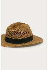 Brązowy kapelusz Pepe Jeans gładki