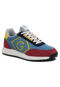 Sneakersy GANT - Garold 22637638 Blue/Bordo/Yell G608. Okazja: na co dzień. Kolor: niebieski. Materiał: materiał, zamsz. Szerokość cholewki: normalna. Styl: elegancki, casual