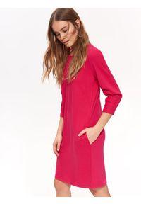 Różowa sukienka TOP SECRET na wiosnę, casualowa