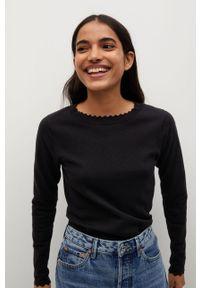 Czarny sweter mango długi, casualowy, na co dzień