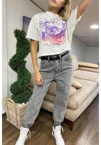Szare jeansy IVET na co dzień, casualowe