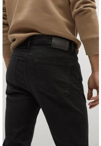 Szare jeansy Mango Man gładkie