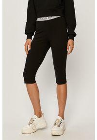 Czarne legginsy Calvin Klein Jeans z nadrukiem