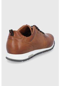 Wojas - Buty skórzane. Nosek buta: okrągły. Zapięcie: sznurówki. Kolor: brązowy. Materiał: skóra