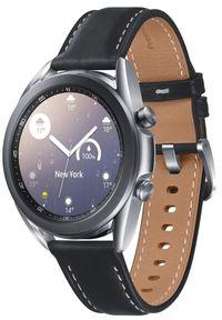 SAMSUNG - Samsung Galaxy Watch 3 (41 mm) Silver. Kolor: srebrny. Materiał: skóra. Styl: sportowy, militarny
