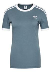 Adidas - adidas T-Shirt adicolor Clasics 3-Stripes GN2914 Szary Regular Fit. Kolor: szary