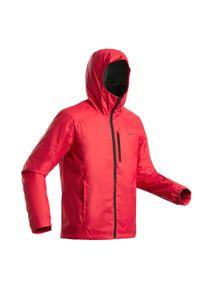 WEDZE - Kurtka narciarska męska Wedze 180. Kolor: czerwony. Materiał: materiał. Sezon: zima. Sport: narciarstwo