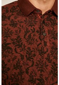 Brązowa koszulka polo medicine polo, krótka