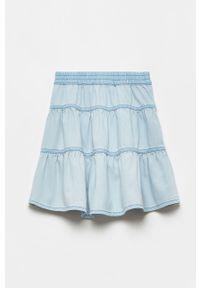 Niebieska spódniczka OVS gładkie