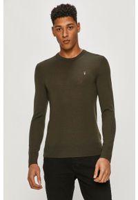Zielony sweter AllSaints na co dzień, z długim rękawem, casualowy