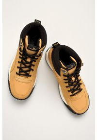 Sneakersy Puma z okrągłym noskiem, z cholewką, na sznurówki