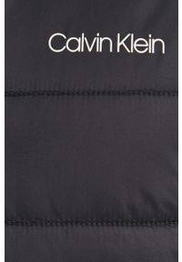 Calvin Klein - Kurtka. Okazja: na co dzień. Kolor: czarny. Materiał: włókno, tkanina, materiał. Styl: casual