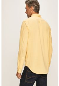 Żółta koszula Polo Ralph Lauren na co dzień, długa, casualowa, button down