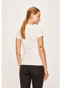 ROBERTO CAVALLI SPORT - Roberto Cavalli Sport - T-shirt. Kolor: biały. Materiał: dzianina. Wzór: nadruk. Styl: sportowy