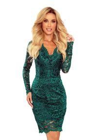 Zielona sukienka Numoco wizytowa